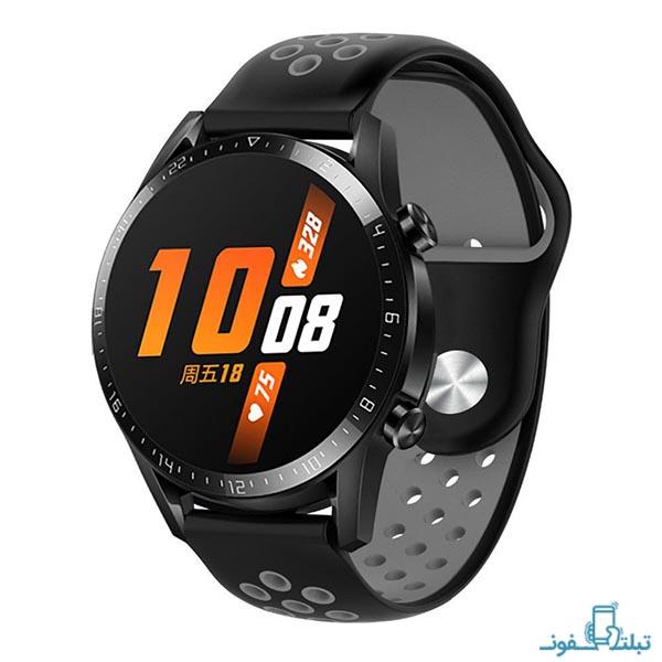 بند سیلیکونی طرح نایک ساعت هوشمند هواوی واچ GT 2 مدل 46 میلی