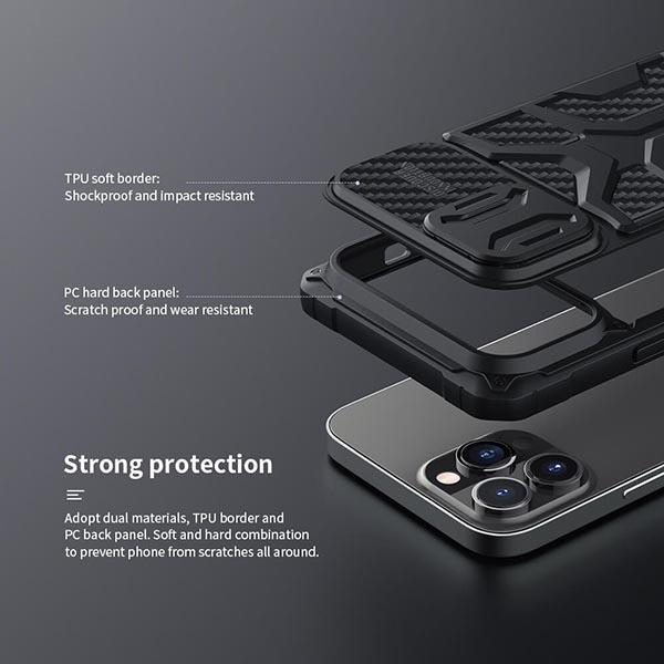 خرید گارد ضد ضربه نیلکین گوشی اپل آیفون 13 پرو مکس