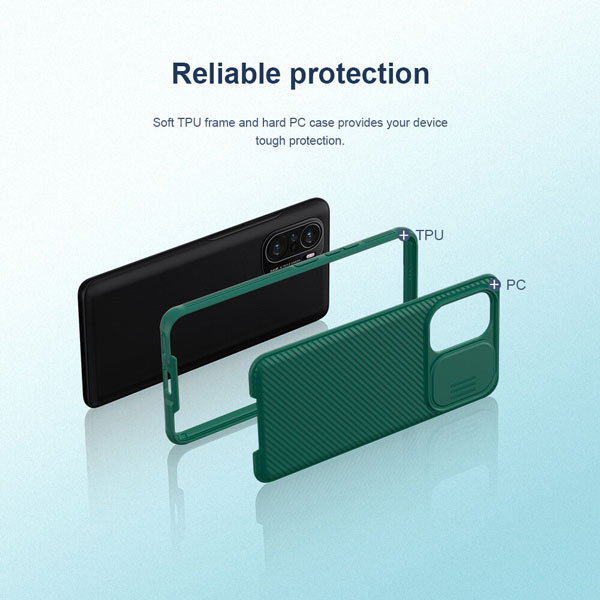 خرید قاب گوشی شیائومی Poco F3 مدل نیلکین CamShield Pro