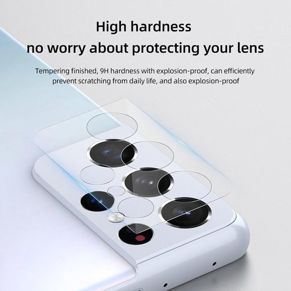 خرید گلس لنز نیلکین دوربین گوشی سامسونگ گلکسی S21 الترا