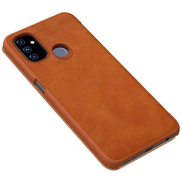 خرید کیف چرمی گوشی وان پلاس Nord N100 مدل نیلکین Qin