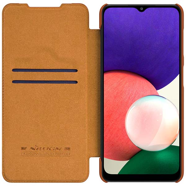 خرید کیف چرمی گوشی سامسونگ Galaxy A22 4G مدل نیلکین Qin