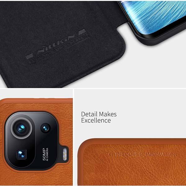 خرید کیف چرمی گوشی شیائومی Mi 11 Pro مدل نیلکین Qin