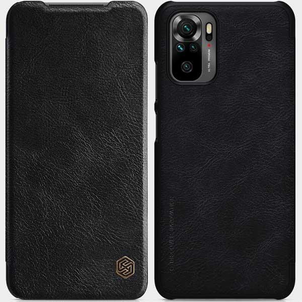 خرید کیف چرمی گوشی شیائومی Redmi Note 10 4G/Note 10S مدل نیلکین Qin