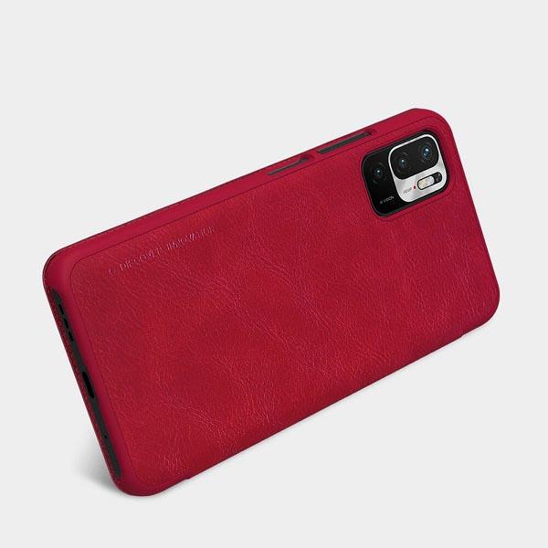 خرید کیف چرمی گوشی شیائومی Redmi Note 10T 4G/5G مدل نیلکین Qin