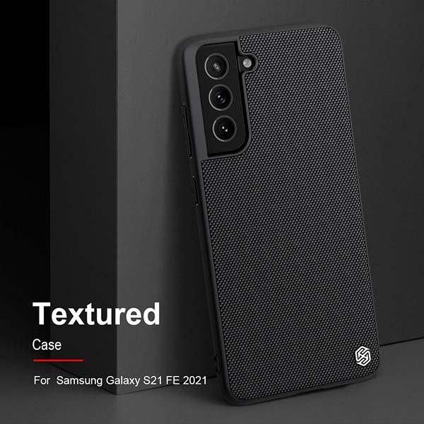 خرید قاب فیبر نیلکین سامسونگ Galaxy S21 FE مدل Textured nylon