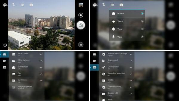 رابط کاربری دوربین اصلی گوشی لنوو کا 3 نوت