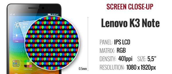 صفحه نمایش گوشی لنوو کا 3 نوت