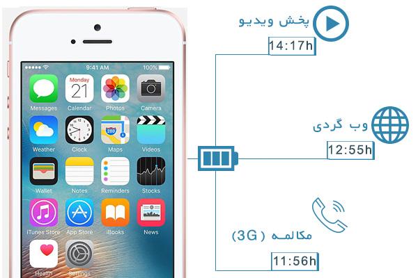 نقد و بررسی گوشی اپل آیفون اسای - باتری و طول عمر باتری