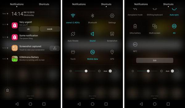 نقد و بررسی گوشی هواوی جی 8 - رابط کاربری - اعلان ها
