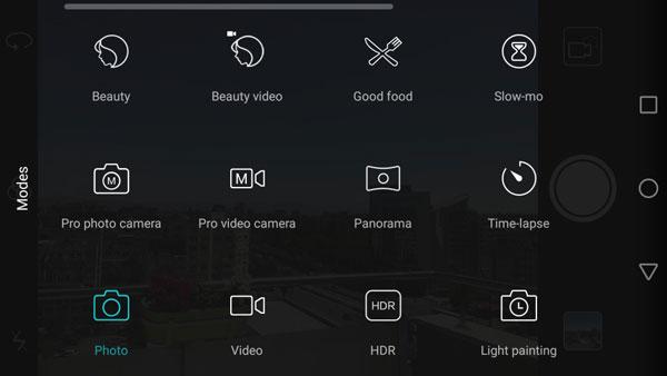 نقد و بررسی گوشی هواوی هانر 5C - رابط کاربری دوربین