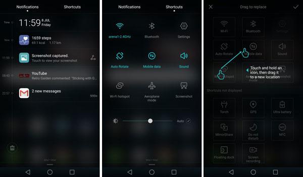 نقد و بررسی گوشی هواوی هانر 5C - رابط کاربری