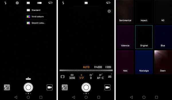 نقد و بررسی گوشی هواوی پی 9 پلاس - رابط کاربری دوربین
