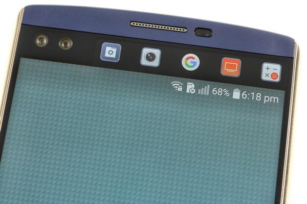 نقد و بررسی گوشی الجی V10 - طراحی - صفحه نمایش