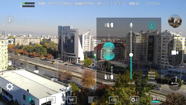 نقد و بررسی گوشی الجی وی 10 - دوربین - جهت ضبط صدا
