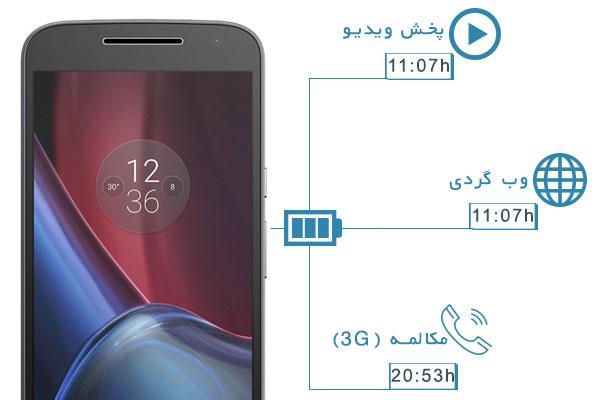 نقد و بررسی گوشی موتورولا Moto G4 Plus - باتری