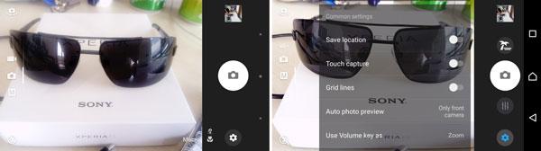 نقد و بررسی گوشی هوشمند سونی اکسپریا E5 - رابط کاربری دوربین