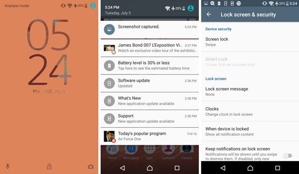 نقد و بررسی گوشی هوشمند سونی اکسپریا E5 - رابط کاربری