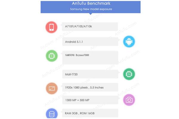 نسخه 2016 گوشی سامسونگ گلکسی A7