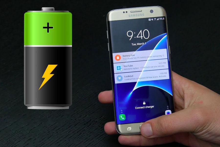 طول عمر باتری سامسونگ Galaxy S7 Edge با اندروید نوقا 7.0