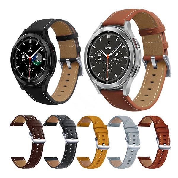خرید بند چرمی سامسونگ Galaxy Watch 4 Classic مدل Premium