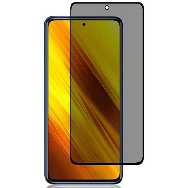 خرید محافظ شیشه ای تمام چسب Privacy برای گوشی شیائومی پوکو X3 NFC