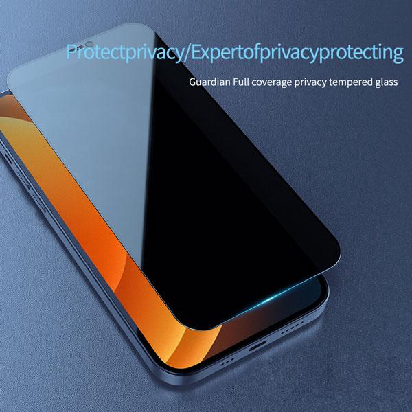 خرید محافظ شیشه ای تمام چسب Privacy برای گوشی اپل آیفون 12 پرو مکس