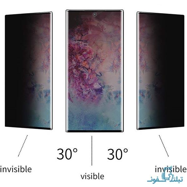 محافظ شیشه ای تمام چسب Privacy برای گوشی سامسونگ گلکسی نوت 10