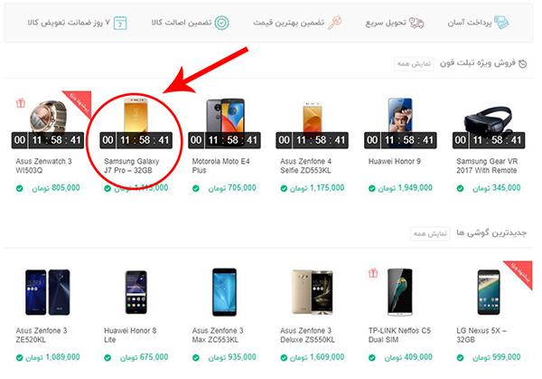مراحل خرید از فروشگاه اینترنتی تبلت فون