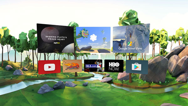 هدست واقعیت مجازی گوگل دیدریم ویو - محیط دیدریم