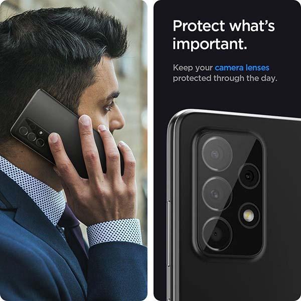 خرید محافظ لنز دوربین گوشی سامسونگ Galaxy A52 مدل شیشه ای