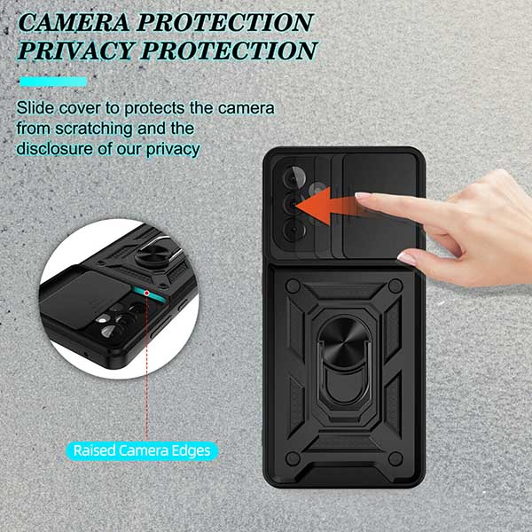 خرید کاور ضد ضربه سامسونگ Galaxy A72/A52 مدل محافظ لنز