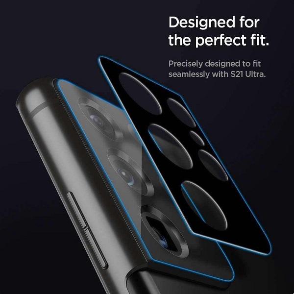 خرید محافظ لنز دوربین گوشی سامسونگ Galaxy S21 Ultra مدل شیشه ای
