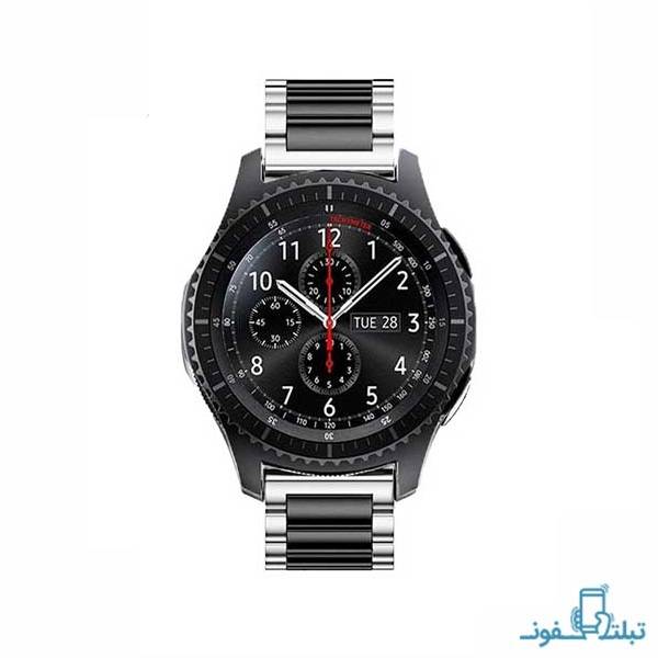 بند فلزی دو رنگ ساعت هوشمند سامسونگ Gear S3