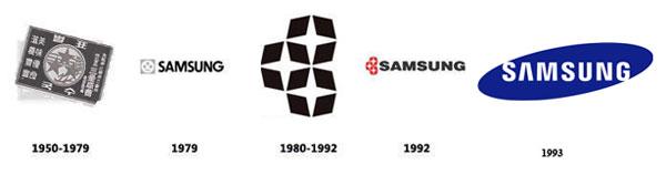 روند تکامل لوگوی سامسونگ
