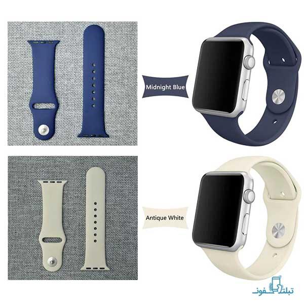 بند سیلسکونی 38/40/42/44mm ساعت هوشمند Apple Watch