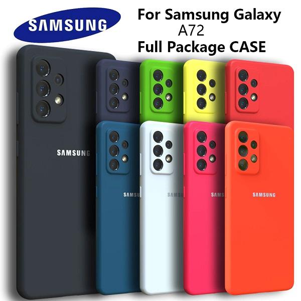 خرید قاب سیلیکونی سامسونگ Galaxy A72/A52 مدل محافظ دوربین