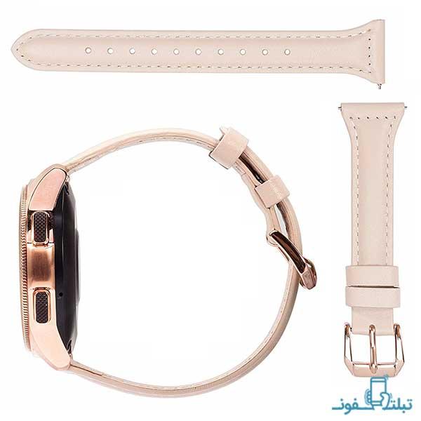 بند چرمی زنانه ساعت هوشمند سامسونگ گلکسی واچ 42 میلیمتری