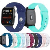 خرید بند سیلیکونی ساعت امازفیت Amazfit GTS 2 Mini مدل دکمهای