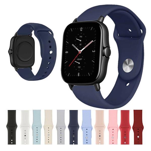 خرید بند سیلیکونی ساعت امازفیت Amazfit GTS 2e مدل دکمهای