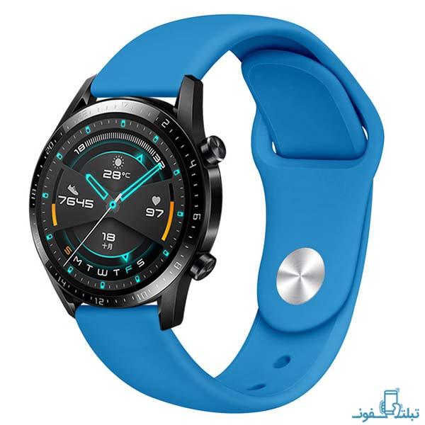 بند سیلیکونی ساعت هوشمند هواوی واچ GT 2 مدل 46 میلی