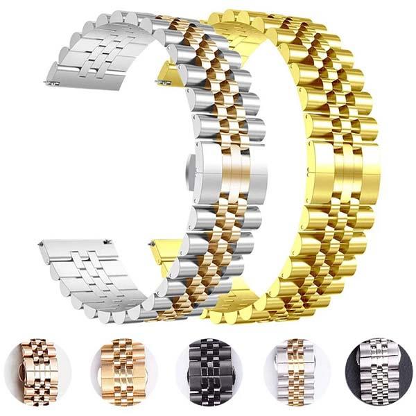 خرید بند ساعت هوشمند طرح استیل 5Rows