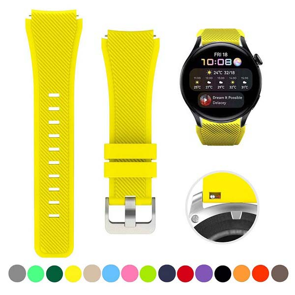 خرید بند سیلیکونی ساعت هواوی Watch 3/3 Pro مدل stripe