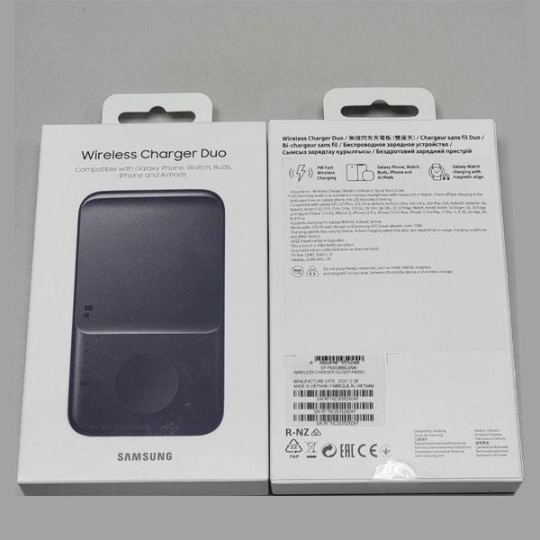 بسته بندی و پک شارژر بی سیم دوگانه سامسونگ Wireless Charger Duo