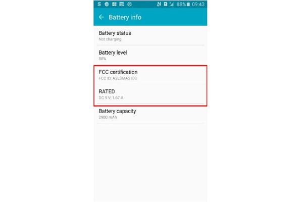 مشخصات باتری گوشی سامسونگ گلکسی A5 نسخه 2016